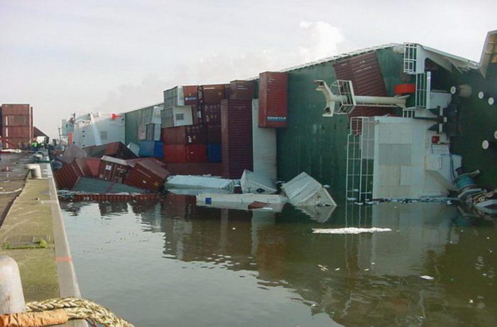 Capsized Container Ship